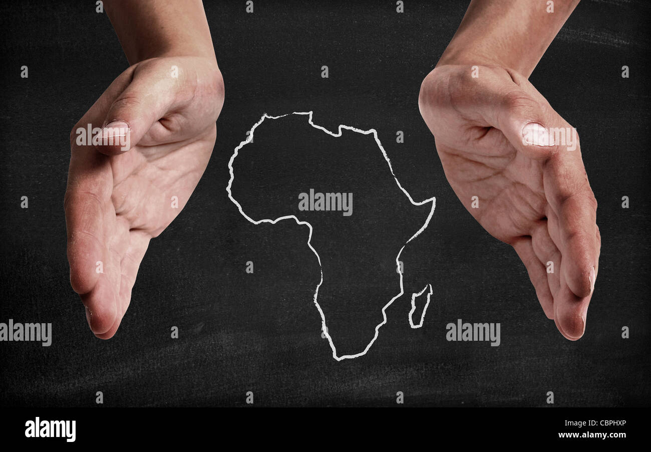 Support africa - Stock Image