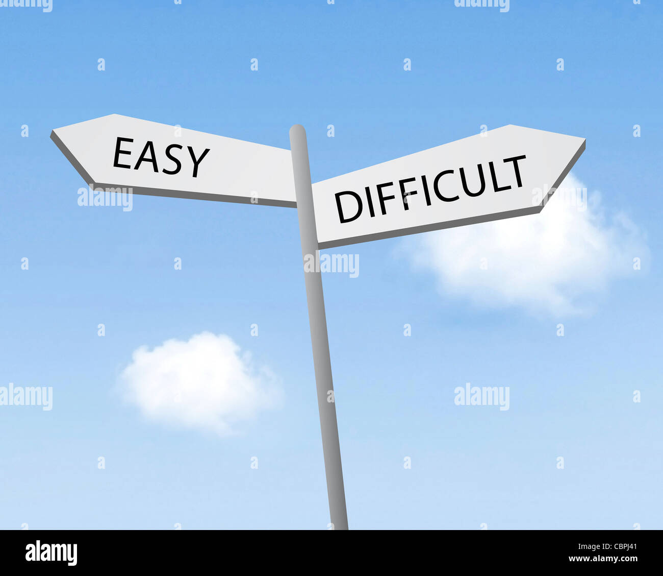 Easy or difficult - Stock Image