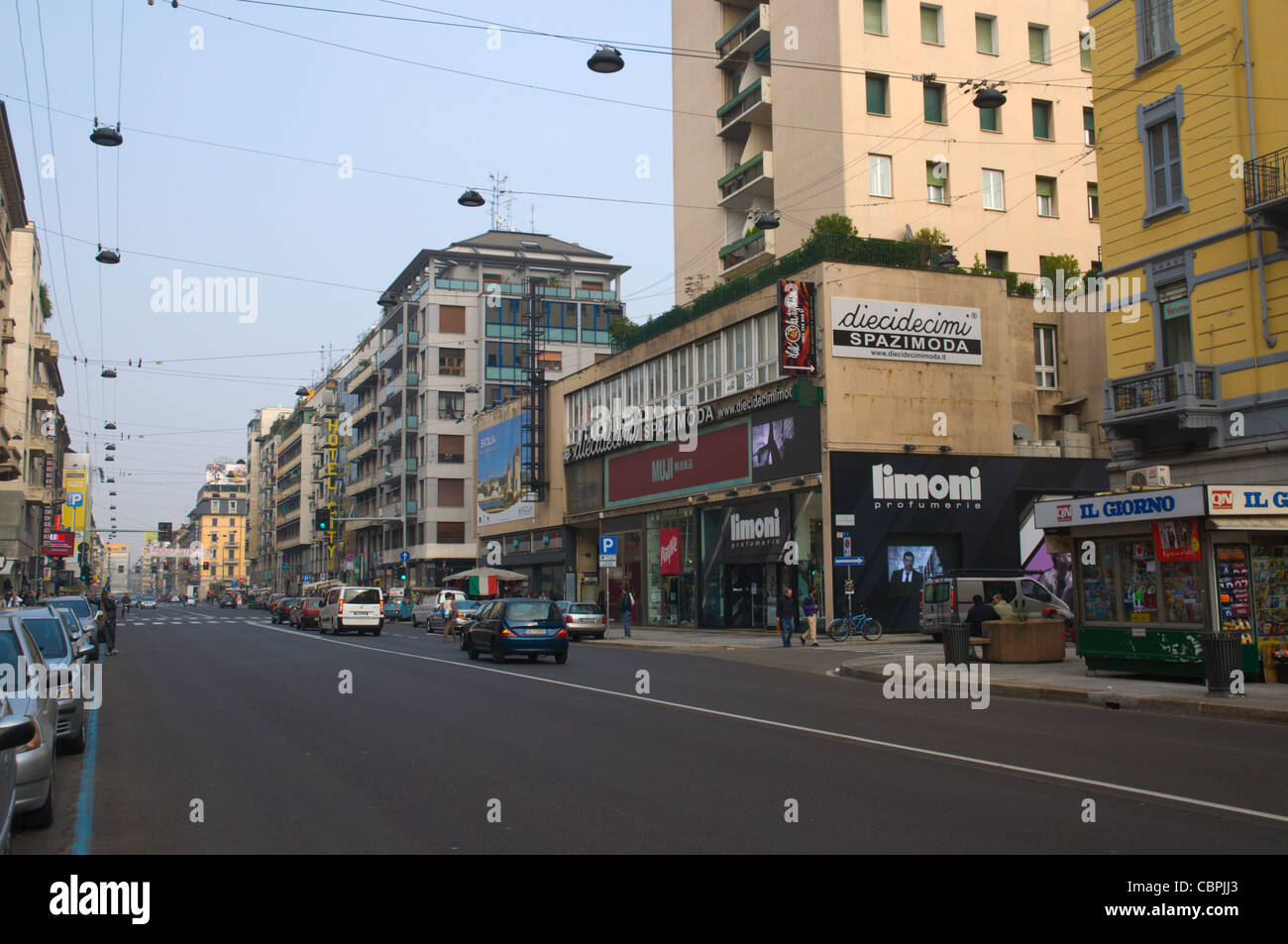 Corso Buenos Aires street Milan Lombardy region Italy Europe - Stock Image