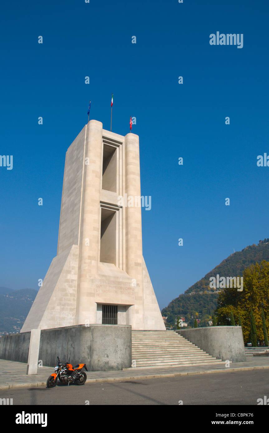 Monumento ai Caduti war memorial (1931) Como town Lombardy region Italy Europe - Stock Image