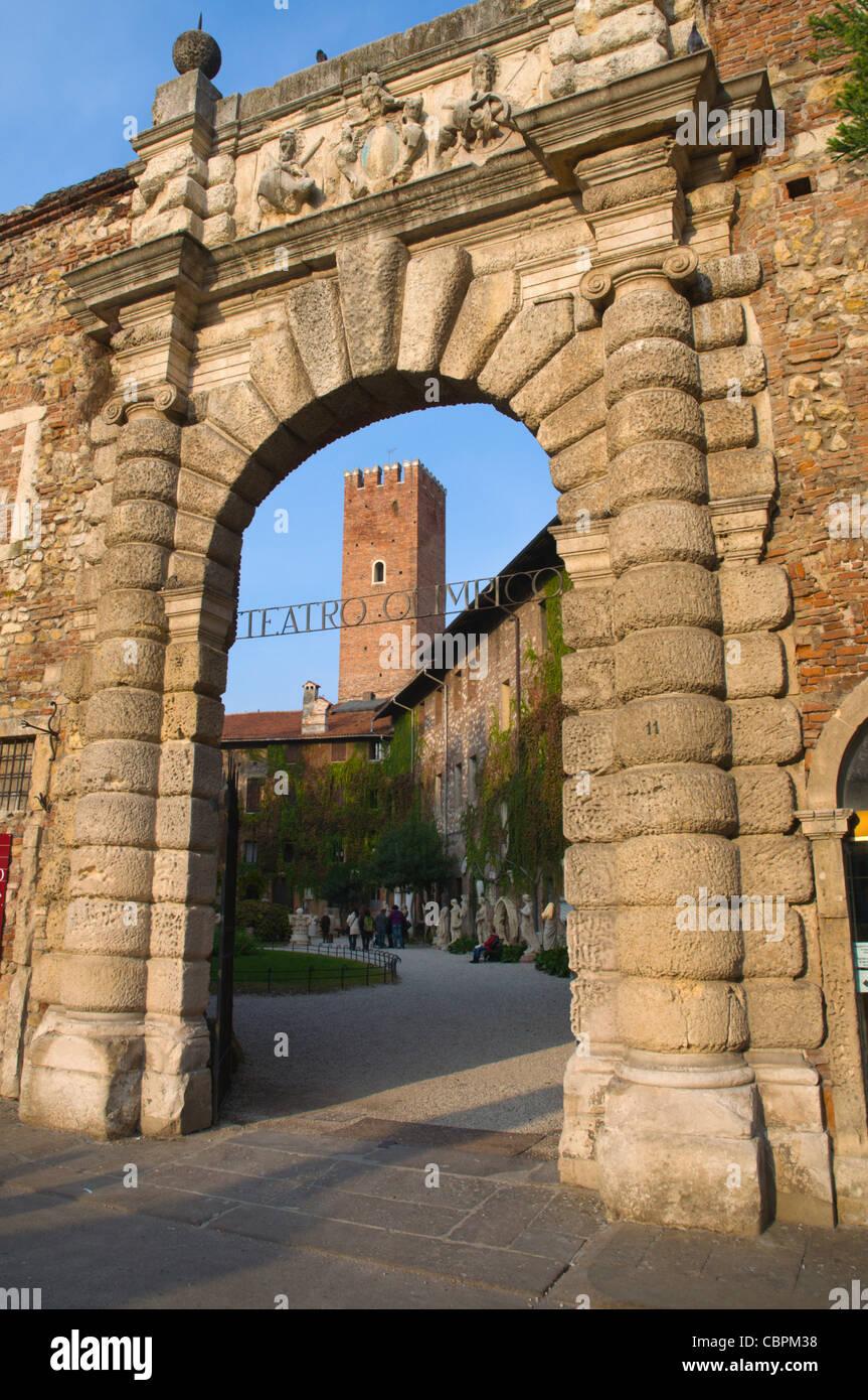 Teatro Olimpico exterior central Vicenza the Veneto region northern Italy Europe - Stock Image