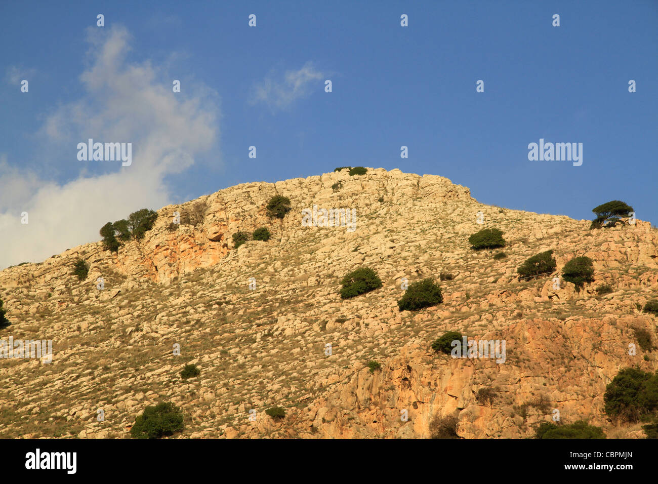 Israel, Mount Precipice in the Lower Galilee - Stock Image