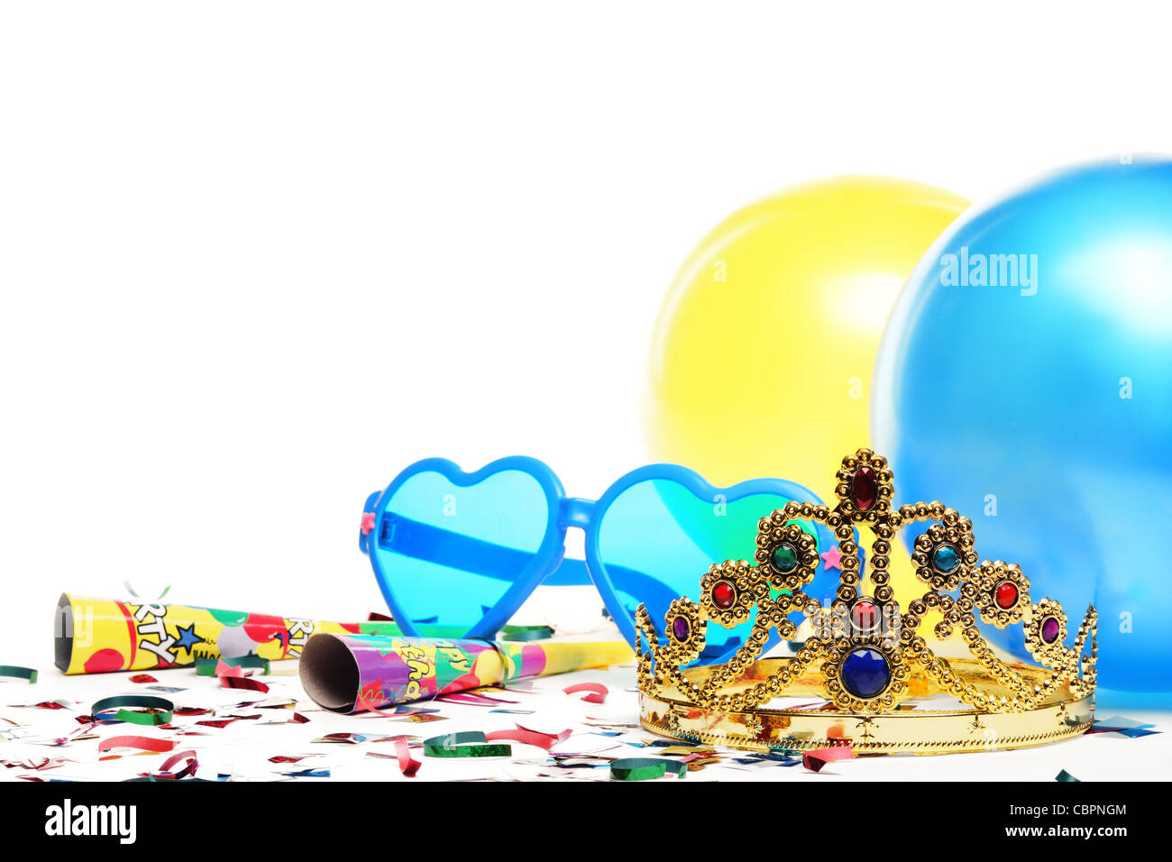Birthday party decorations,Closeup. - Stock Image