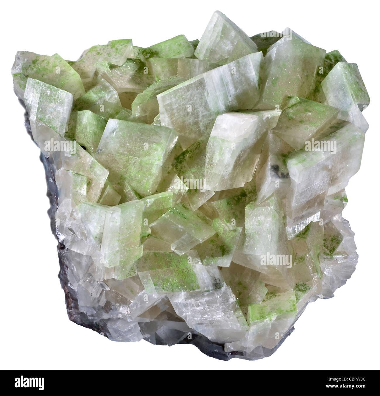 Duftite on Calcite, Tsumeb, Namibia - Stock Image