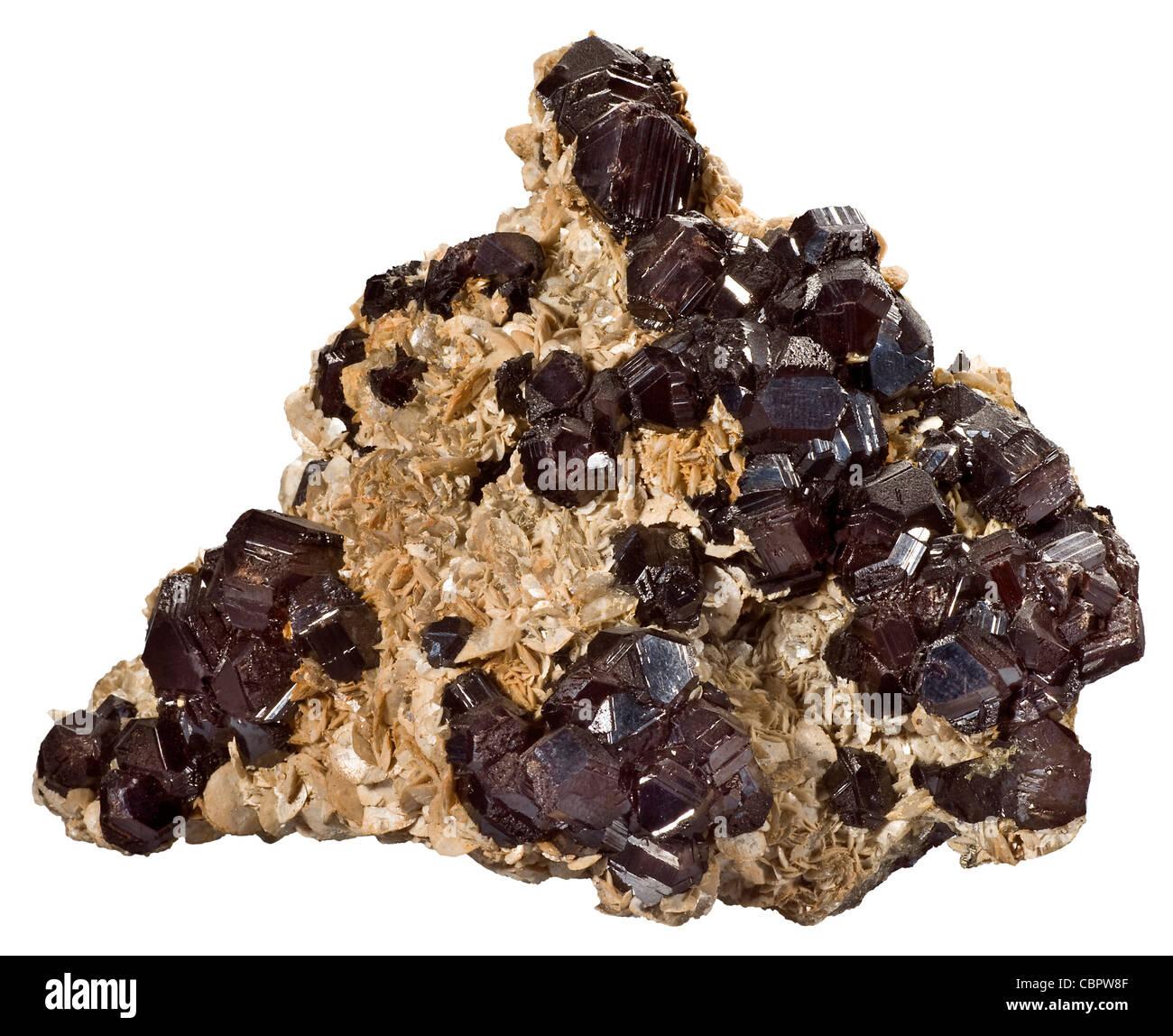 Sphalerite with Siderite, Eagle Mine, Gilman, Colorado - Stock Image