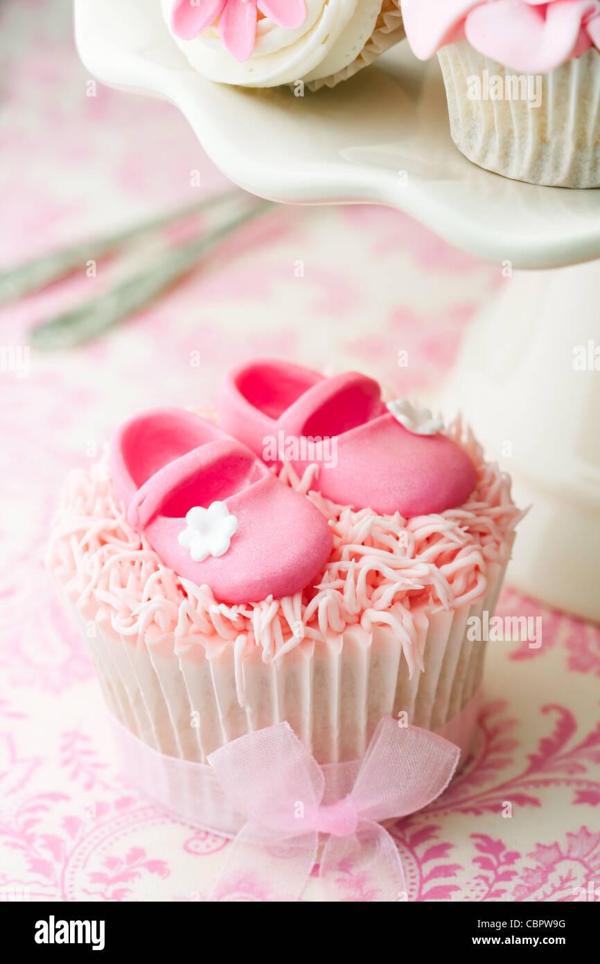 Babyshower cupcakes - Stock Image