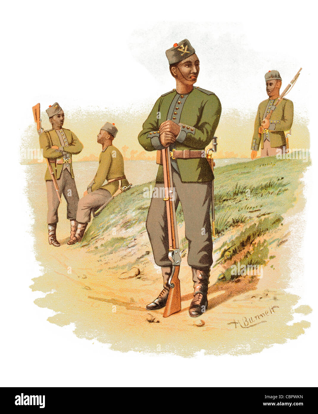 3rd Gorkha Rifles Indian Army infantry regiment Gurkha Queen Alexandra's Own Gurkha Rifles - Stock Image