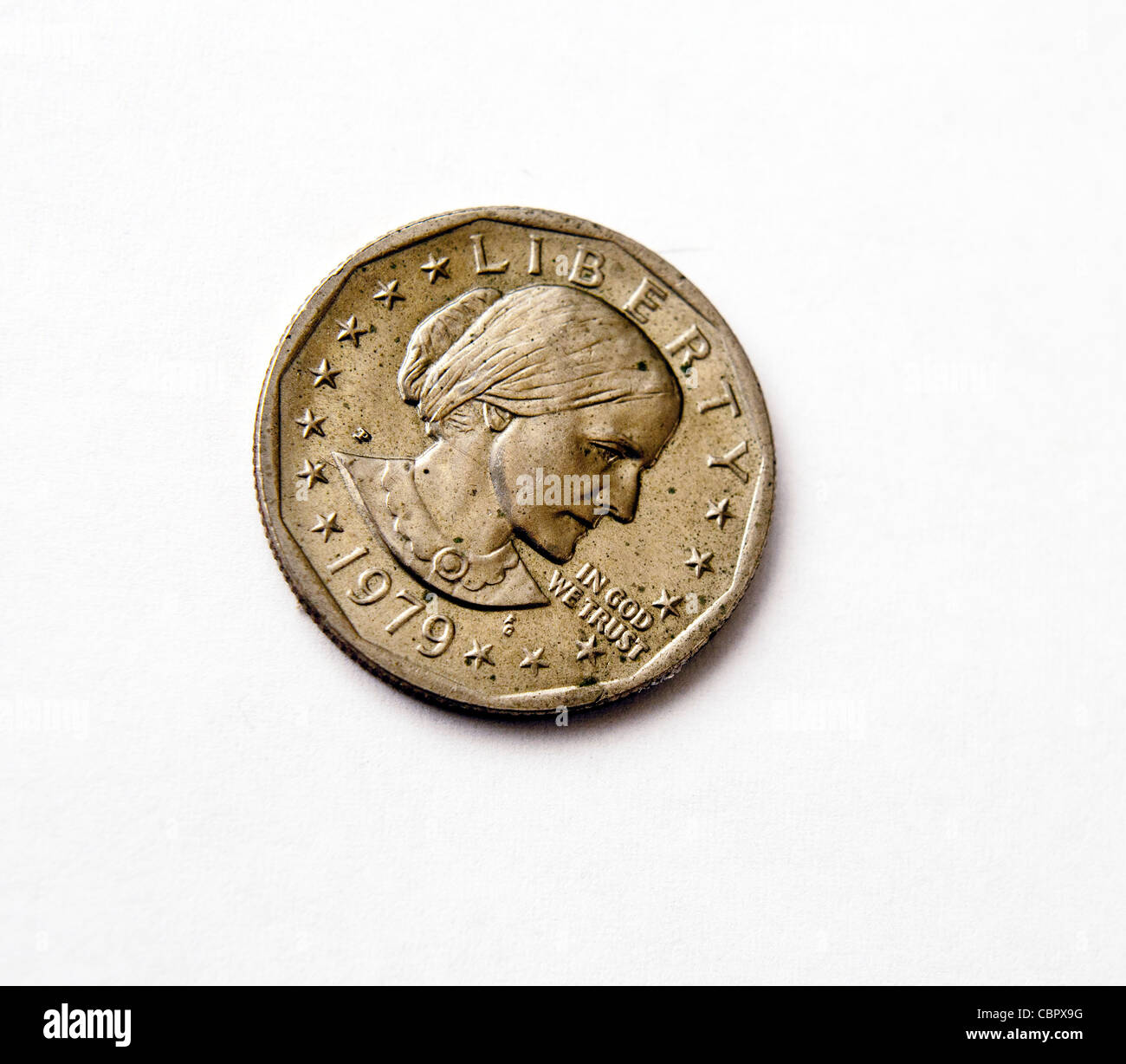 A 1979 Susan B. Anthony U.S. dollar coin - Stock Image