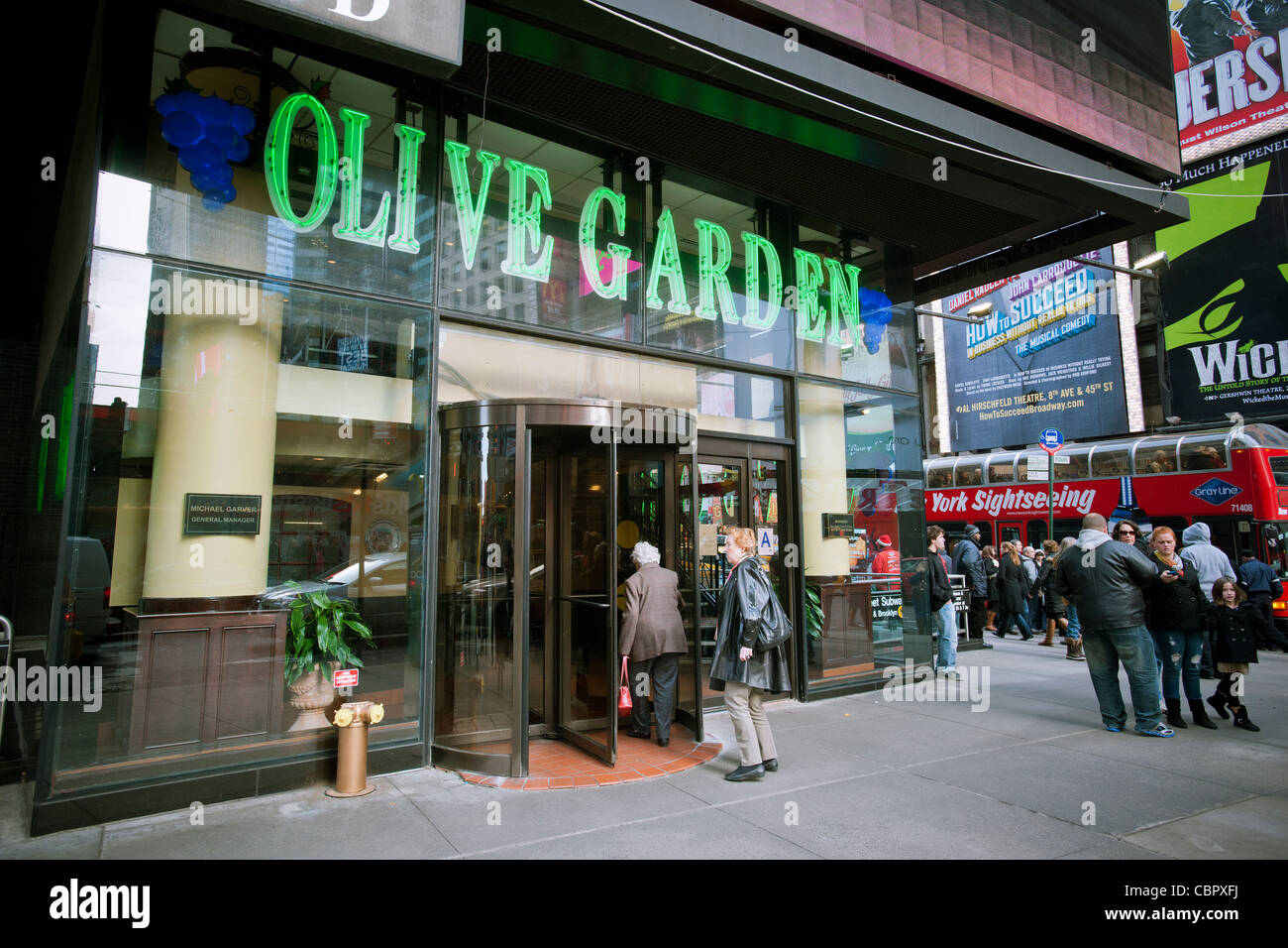 an olive garden restaurant in times square in new york is seen on friday december - Olive Garden New York
