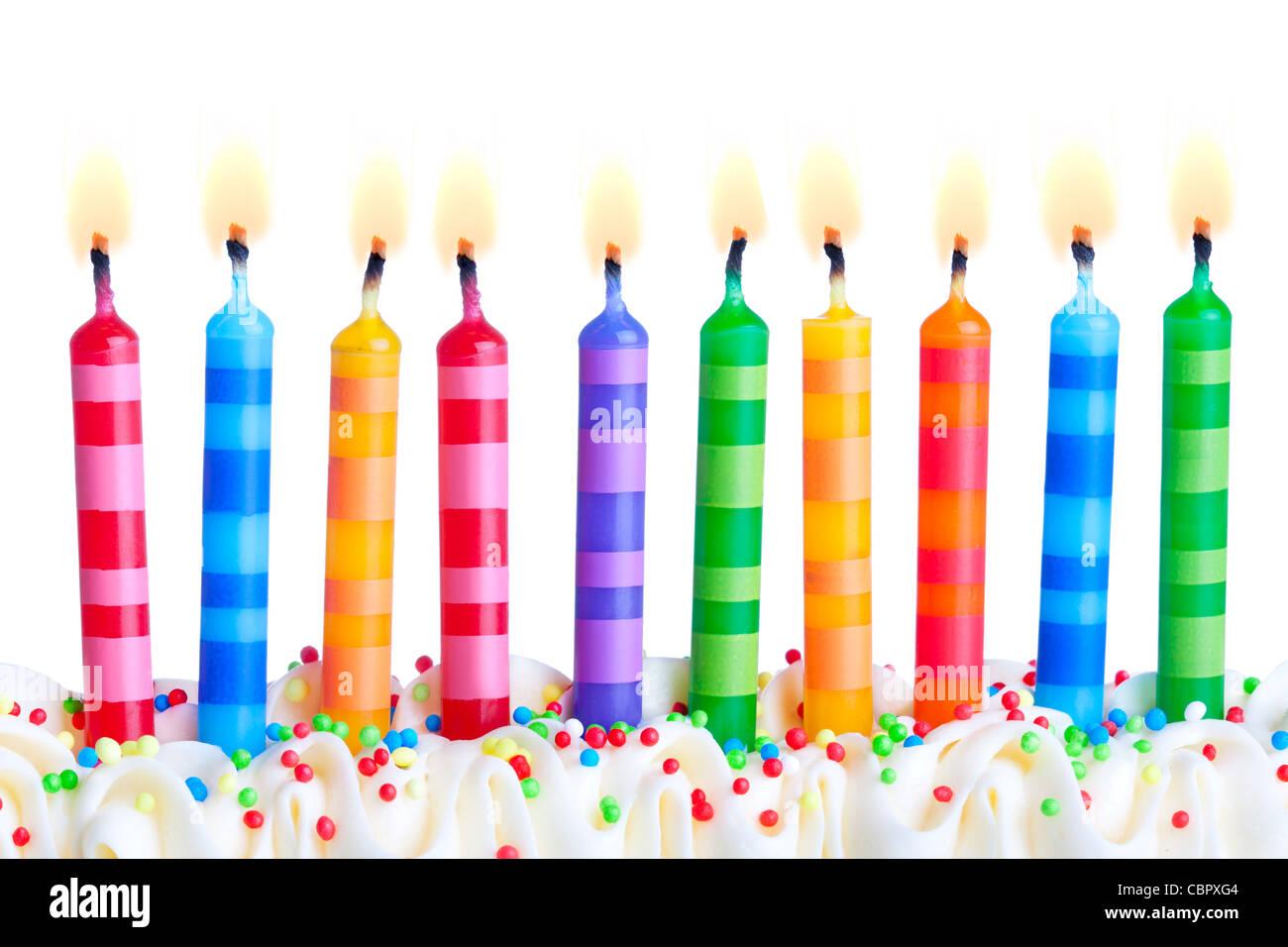Birthday candles - Stock Image
