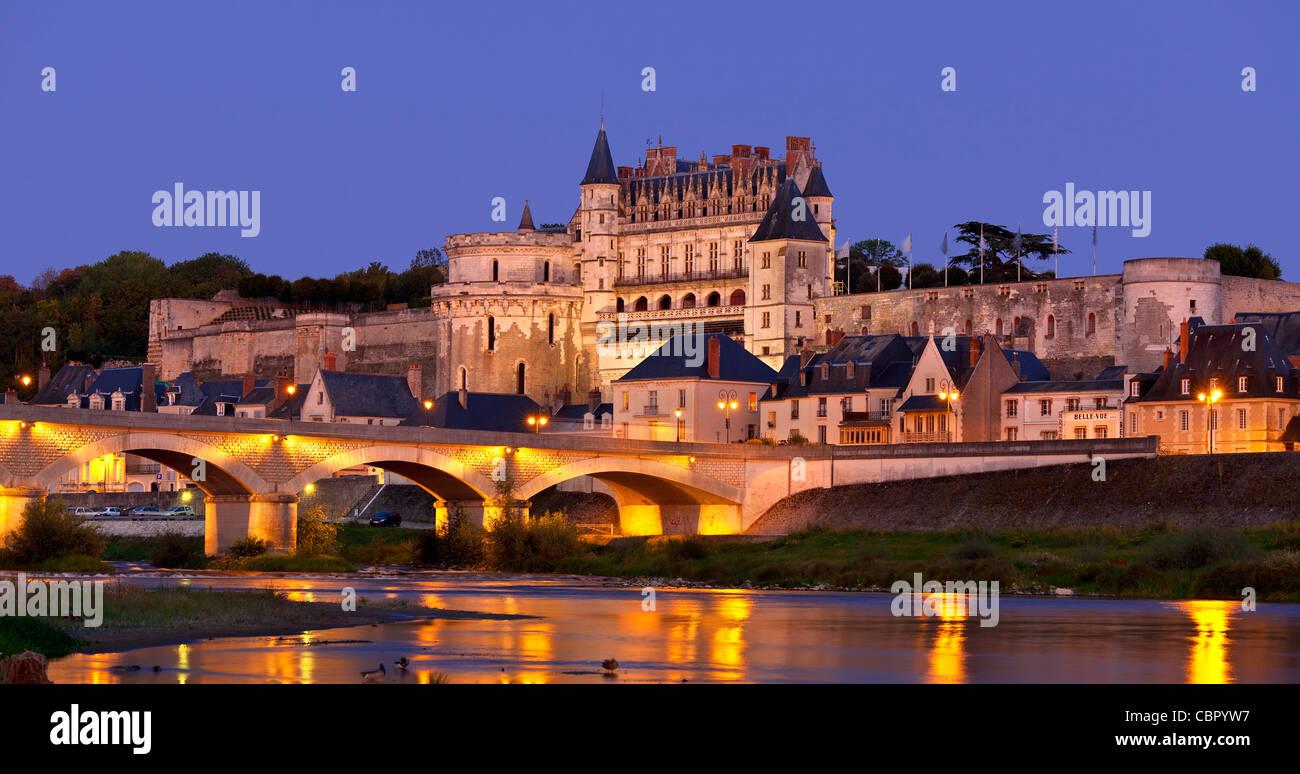 Loire Valley, Amboise castle - Stock Image