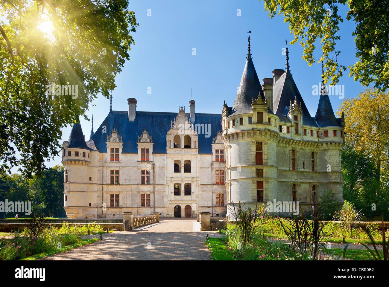 Loire Valley, Azay le Rideau Castle - Stock Image
