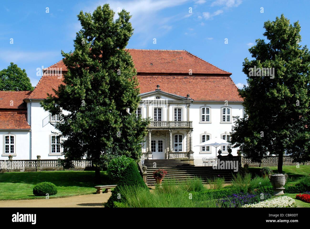 Wiepersdorf castle near Jueterbog in Brandenburg. - Stock Image