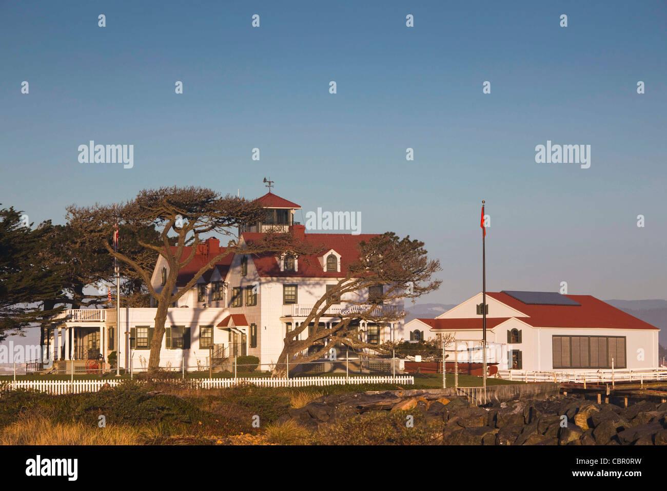 USA, California, Northern California, North Coast, Samoa, US Coastguard Station, Humbolt Bay - Stock Image