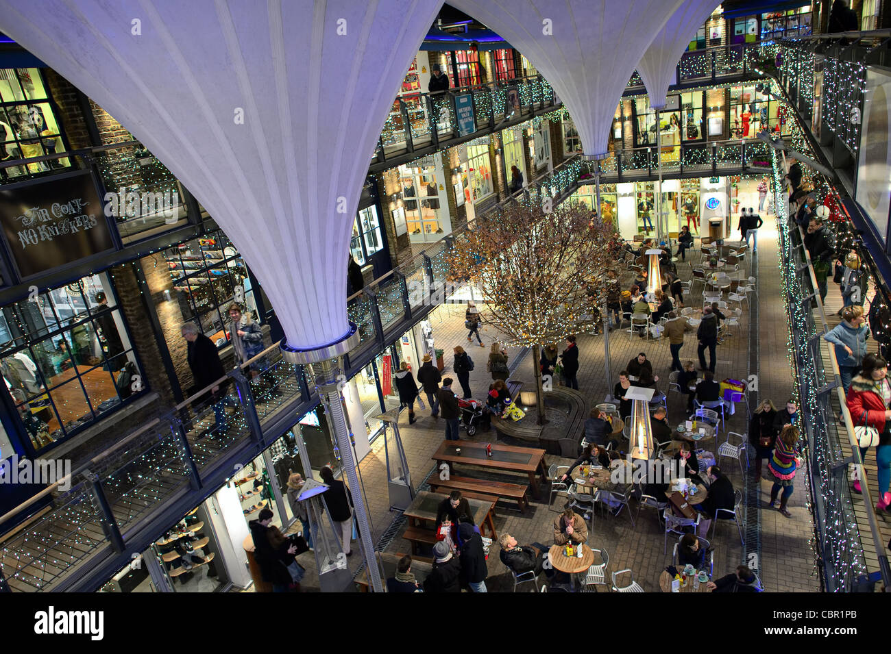 Kingly Court, off Carnaby Street, West End, London, UK, Europe, at night - Stock Image