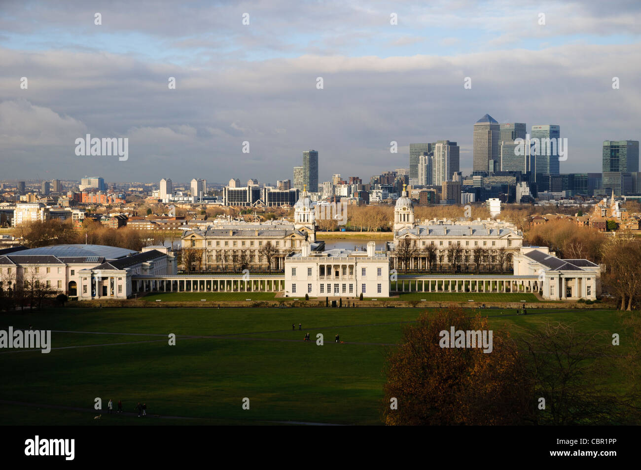 Greenwich and London Docklands - Stock Image