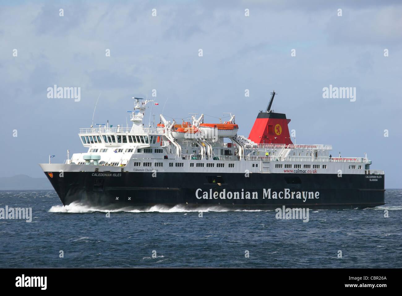 Mv Caledonian Isles approaching Brodick Bay on The Isle of Arran. - Stock Image
