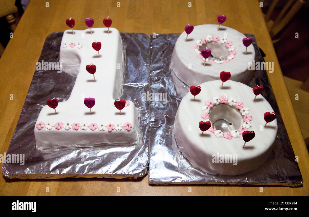 An 18th Birthday Cake Stock Photo 41688644 Alamy