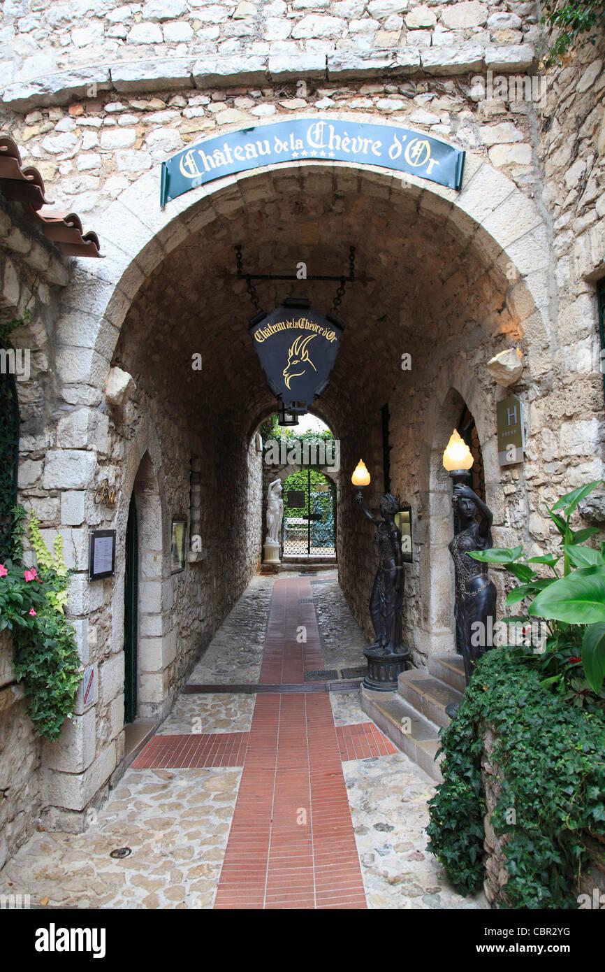 Chateau de la Chevre d'Or, hotel, Eze, village, Alpes Maritimes, Provence, Cote d'Azur, French Riviera, - Stock Image