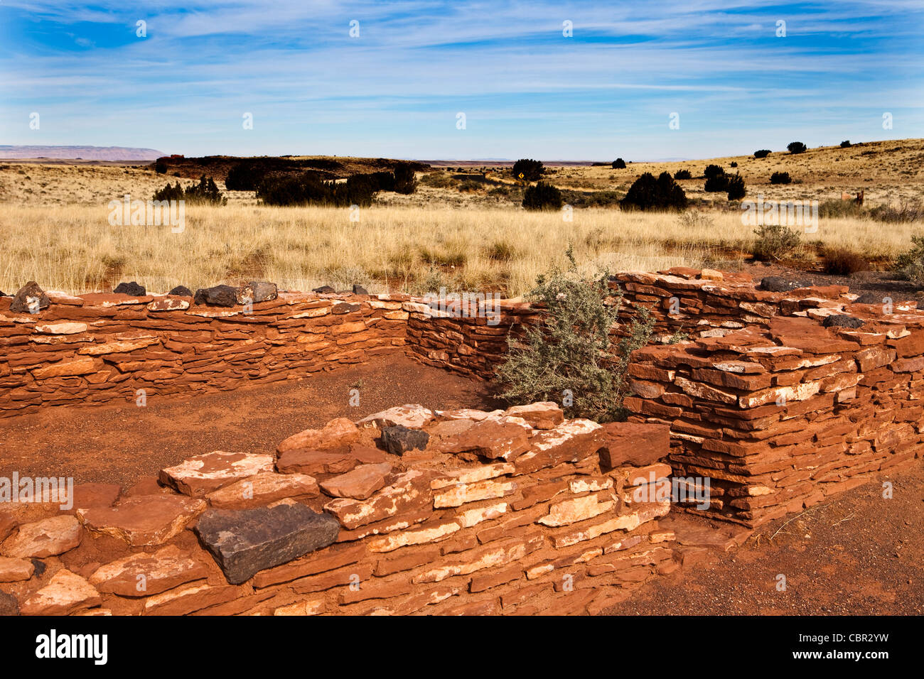 Nalakihu Hopi Ruins, Wupatki National Monument, Arizona - Stock Image