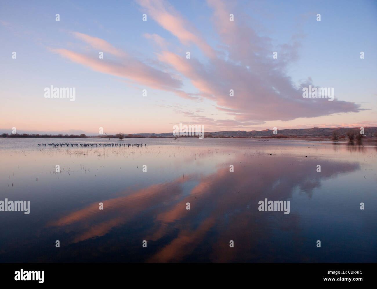 Cloud Formation and Reflection - Stock Image