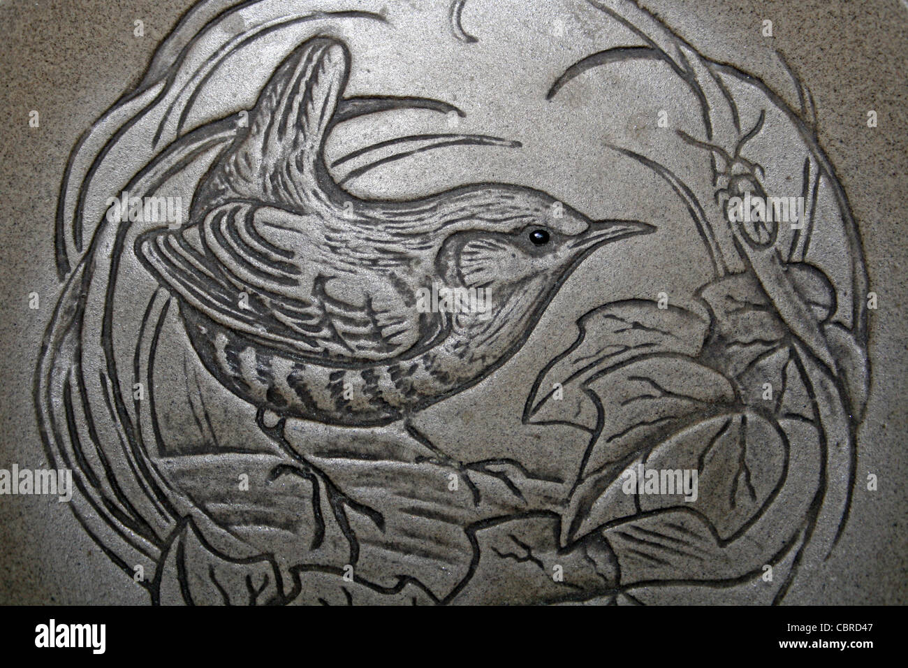 Wren by Poole Pottery Stoneware Plate - Stock Image