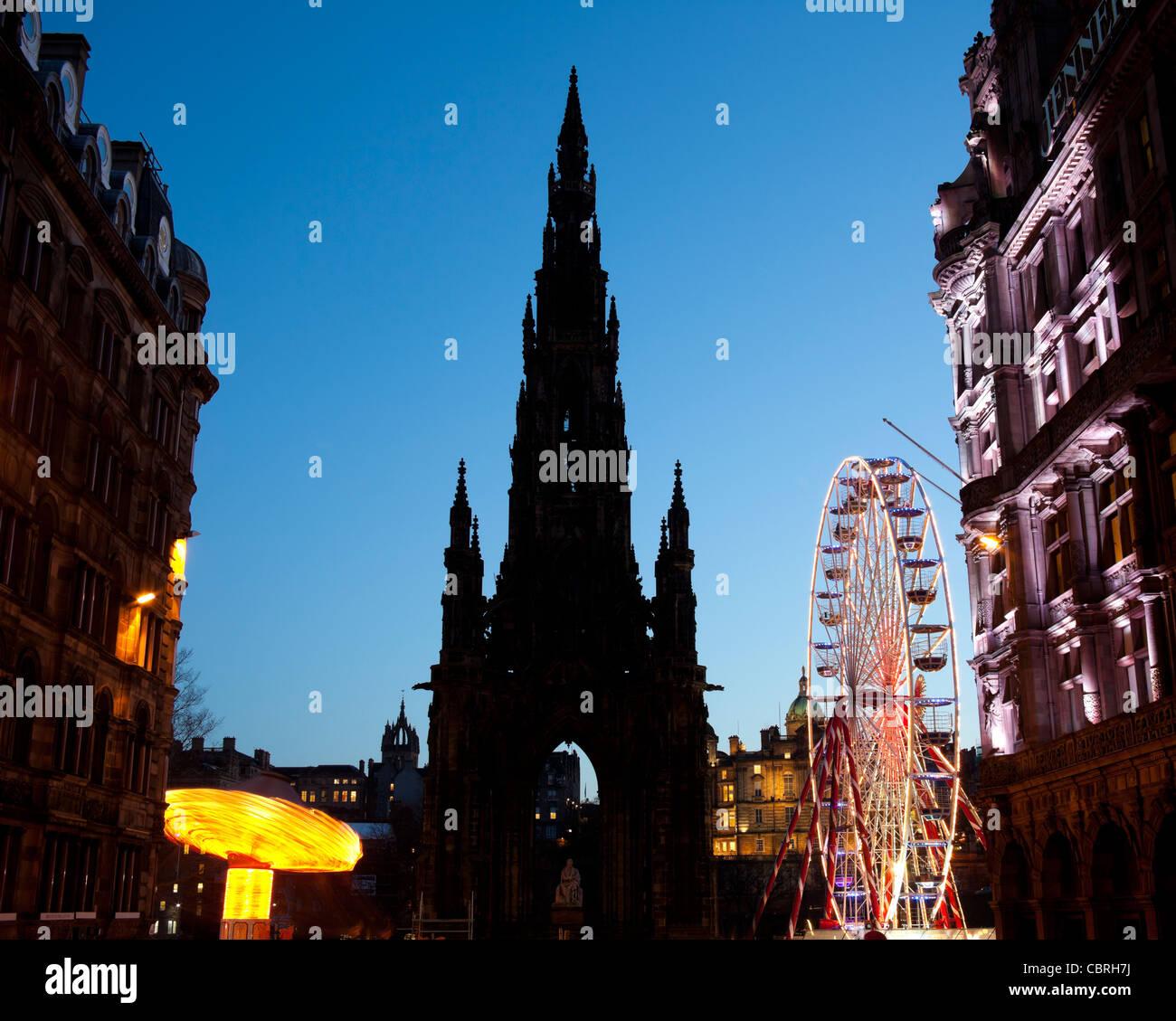 Edinburgh Christmas Fun Fair Princes Street Edinburgh Scotland UK, Europe Stock Photo
