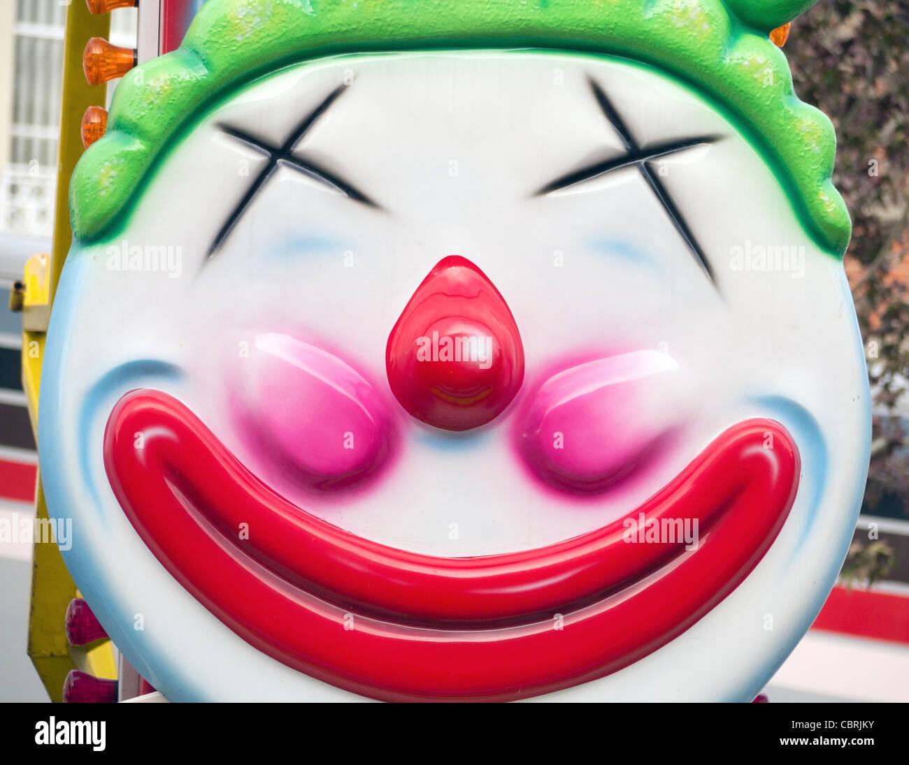 Kitsch clown 3 - Abingdon Street Fair 2011 - Stock Image
