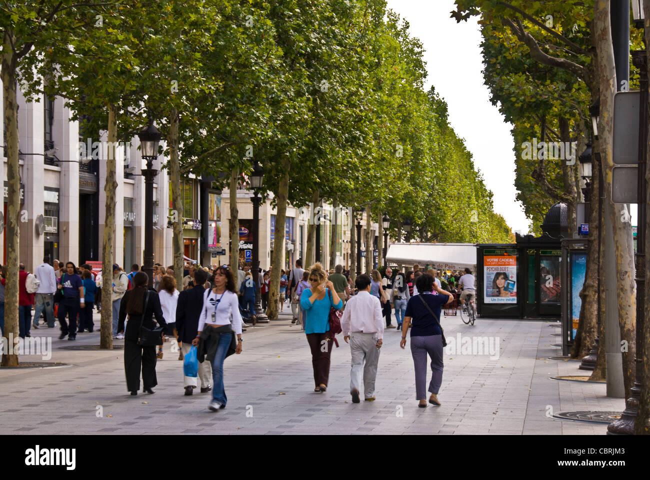 Walk Down the Champs-Élysées in Paris, France