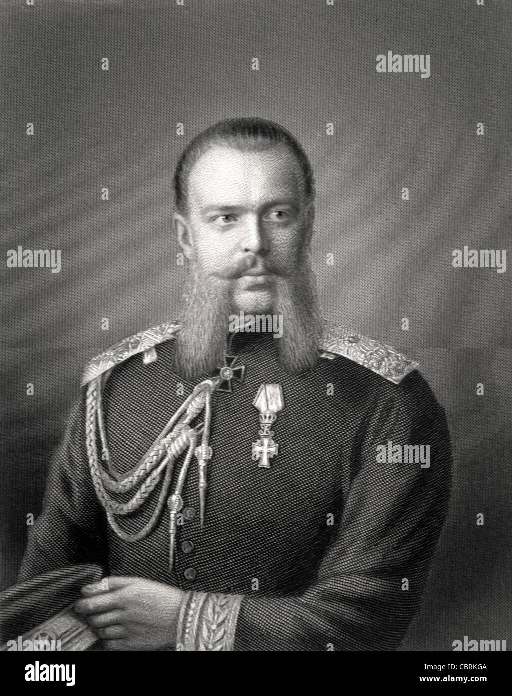 Alexander III of Russia (1845-1894) Alexandrovich Romanov, Emperor of Russia (1881-1894) the Peacemaker c19th Engraving Portrait