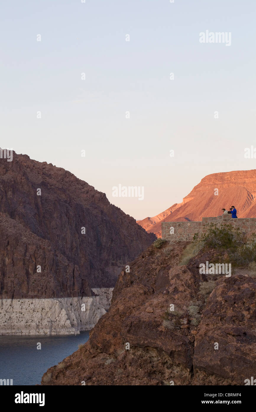 Looking North from Hoover Dam - Stock Image