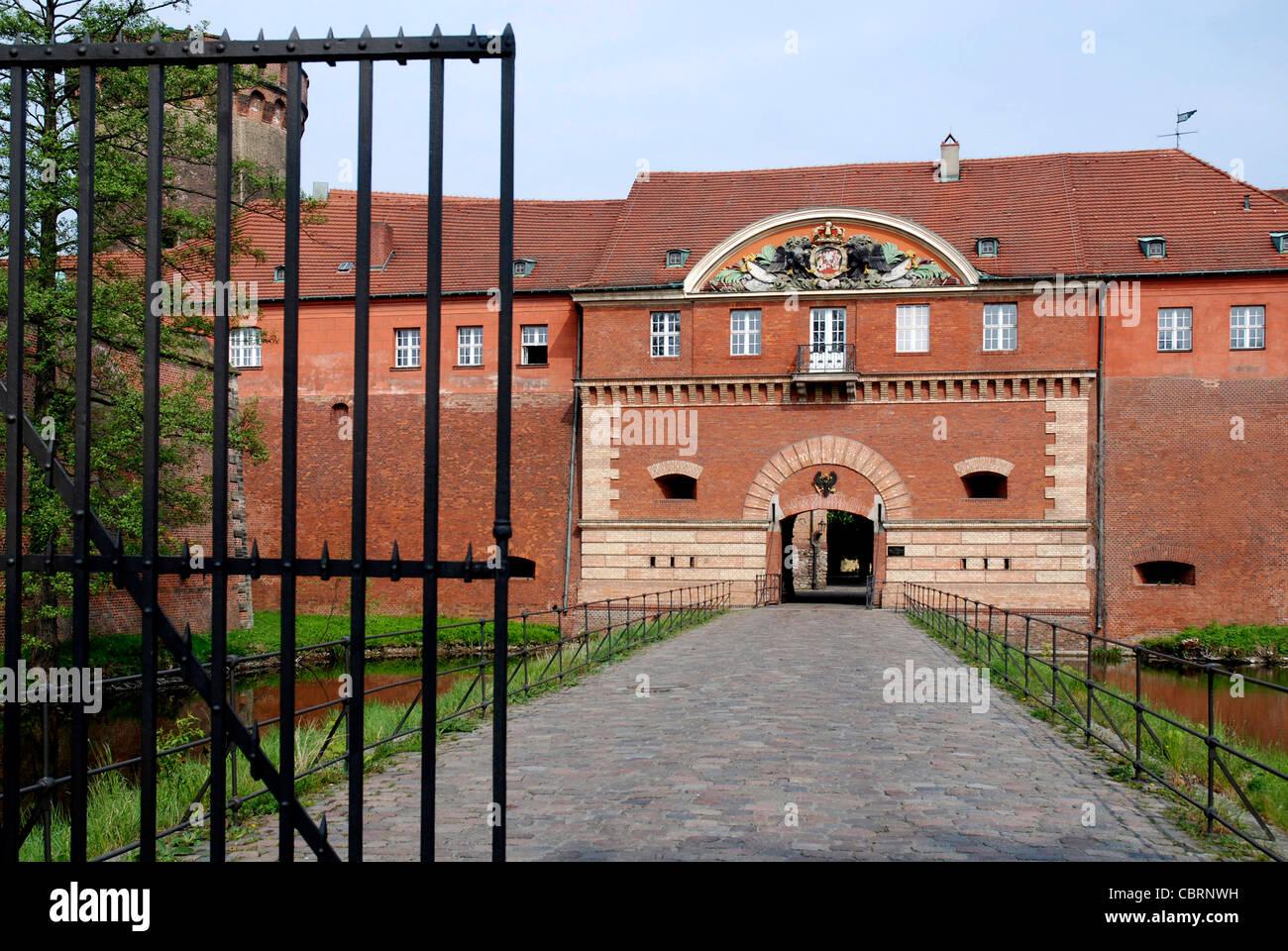 Spandau Citadel in Berlin with man gate and Juliusturm. - Stock Image