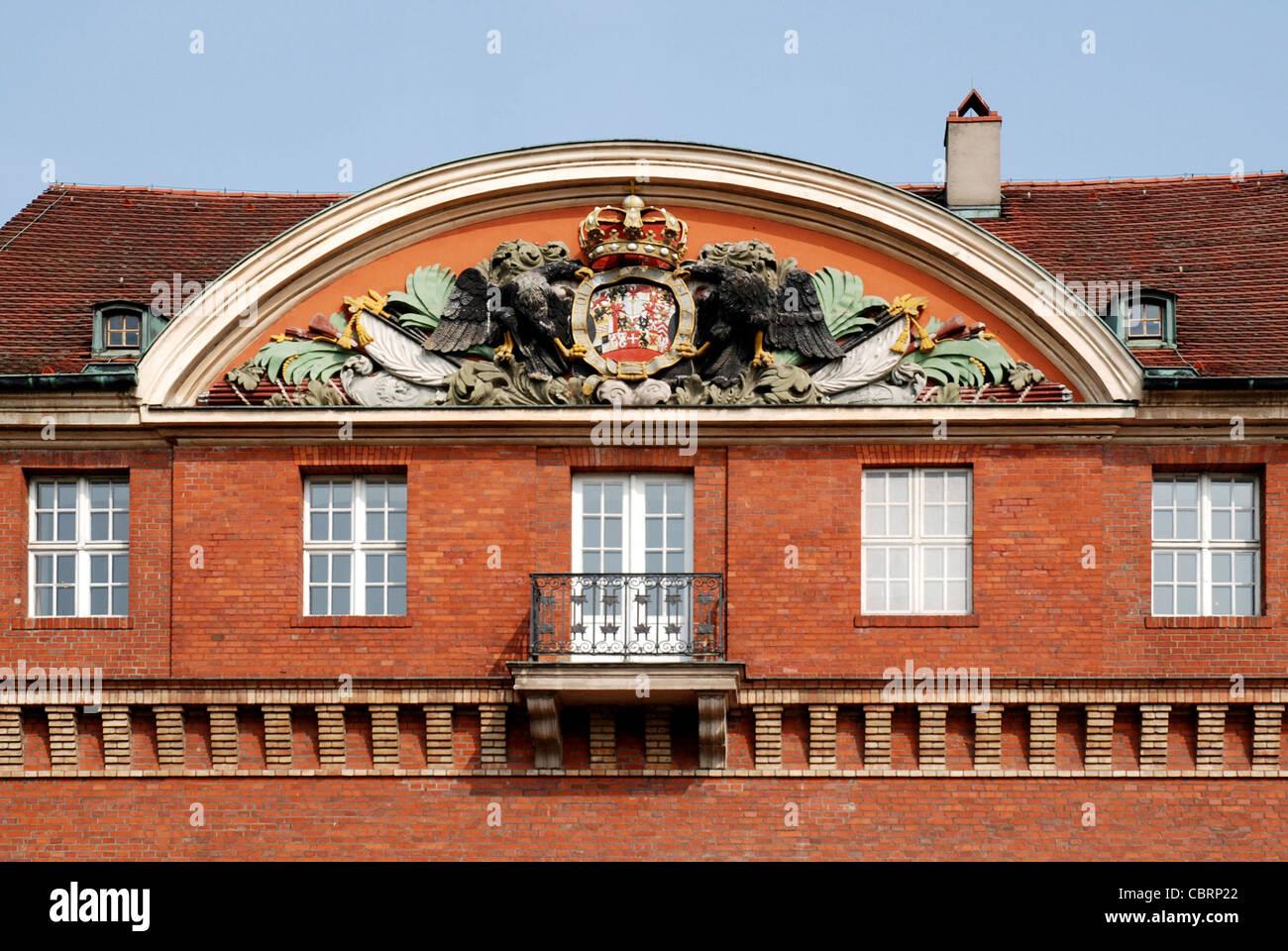 Portal of the Spandau Citadel in Berlin. - Stock Image