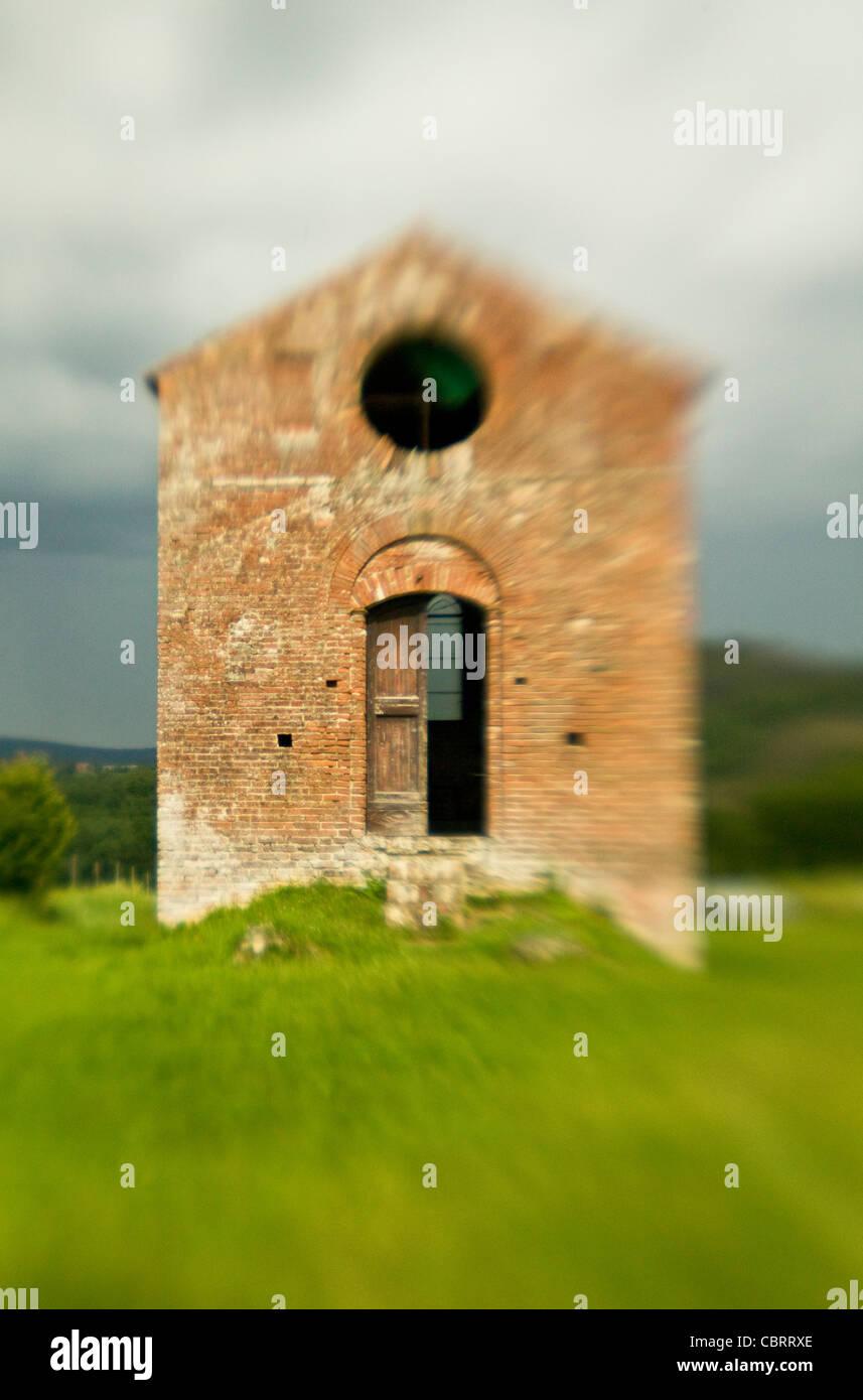 Ruin at San Gimignano. Tuscany Italy. - Stock Image