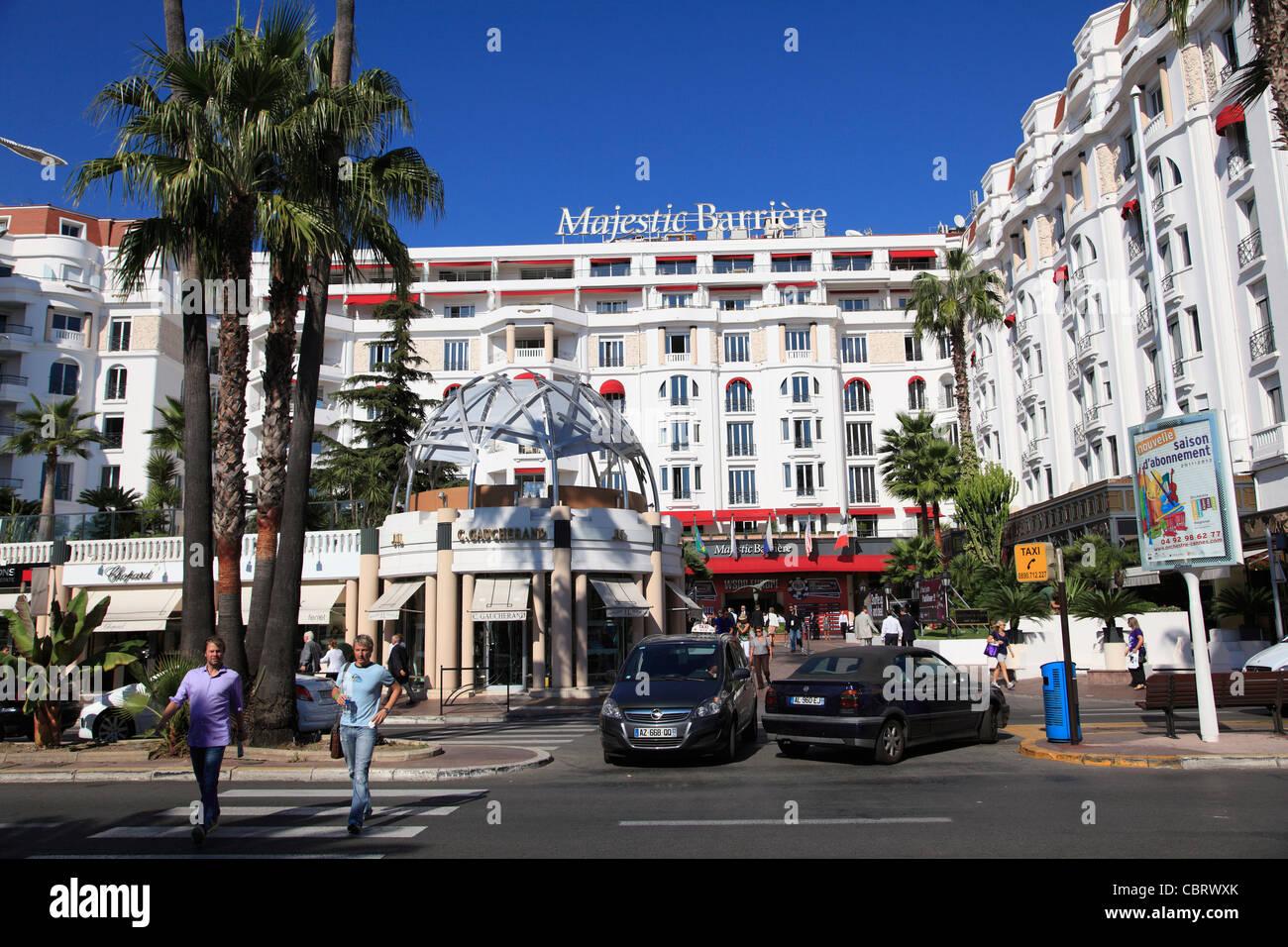 Boulevard de la Croisette, La Croisette, Cannes, Cote d'Azur, Provence, France, Europe Stock Photo
