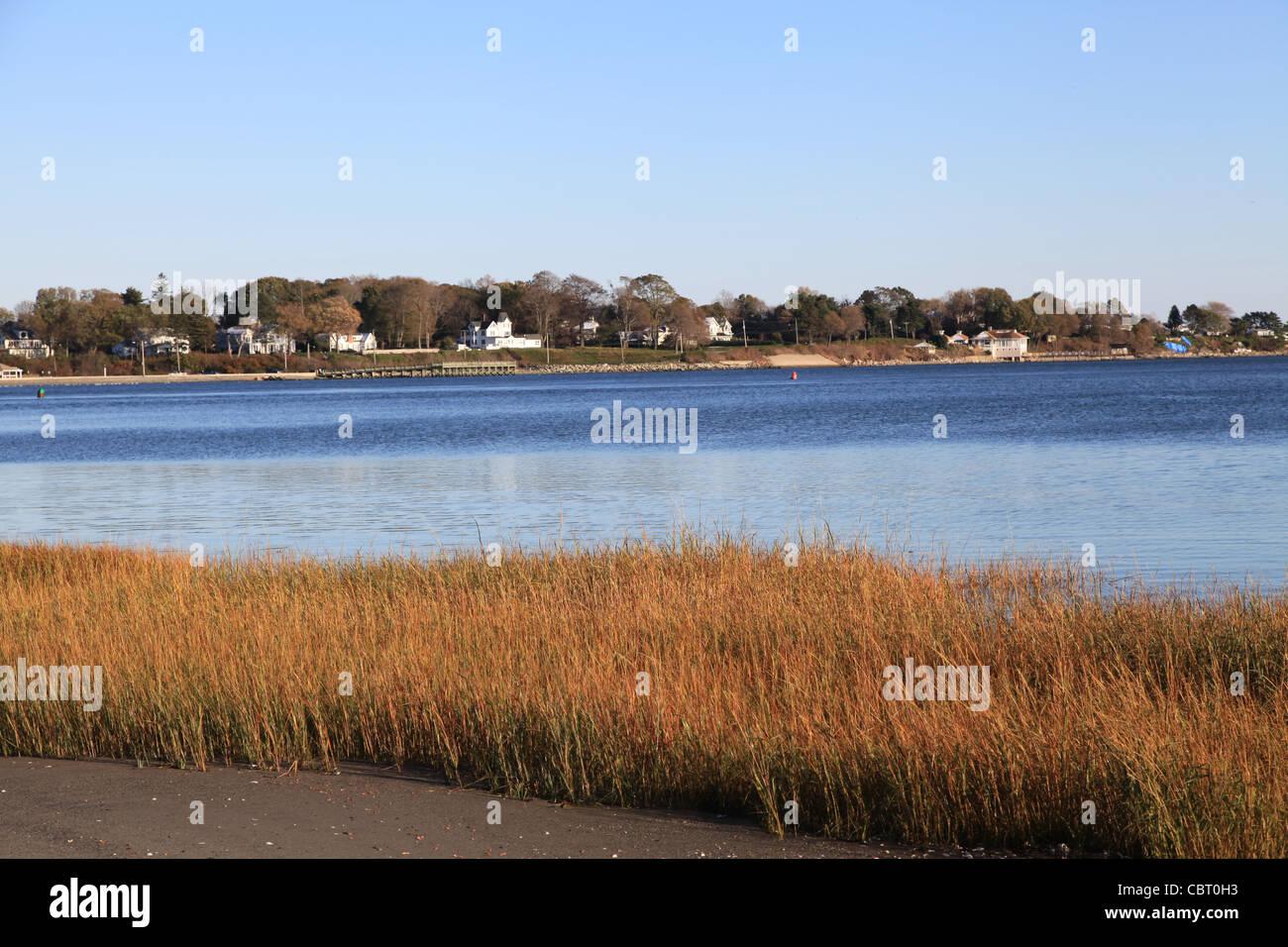 Coast Idyll in New England USA - Stock Image