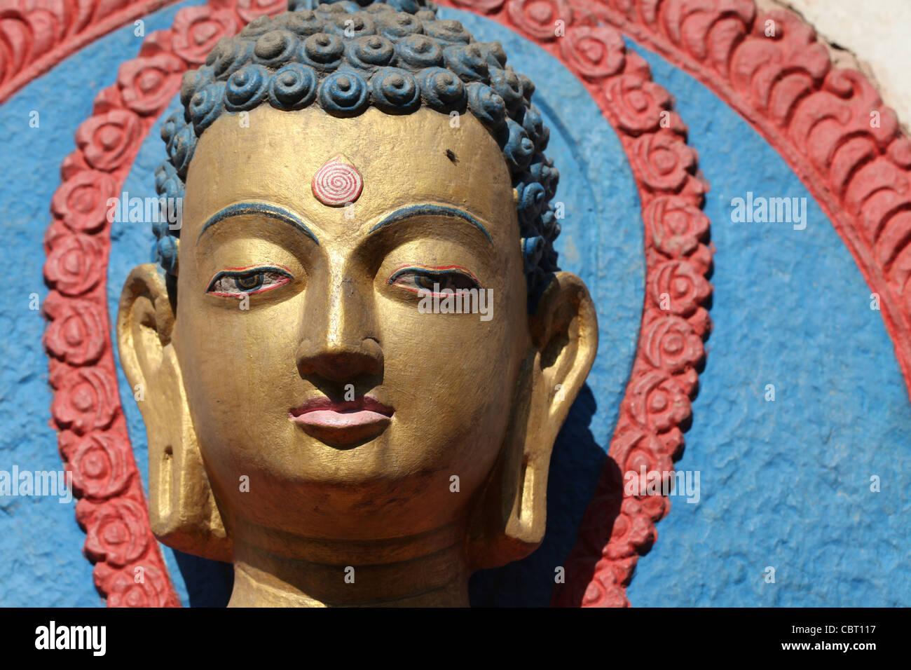 Buddha, Kathmandhu - Stock Image
