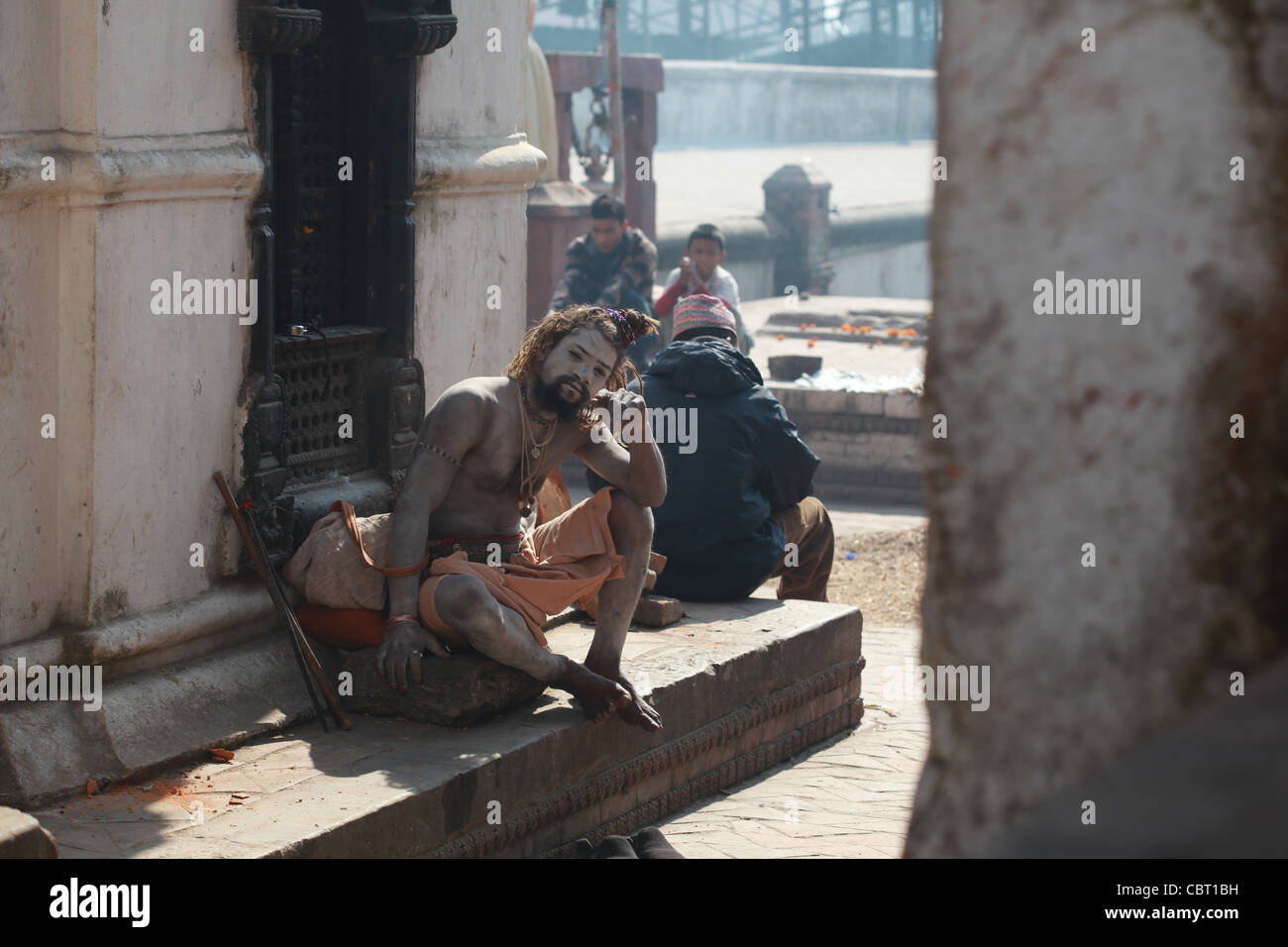 Hindu Saddhu in Pashupatinath - Stock Image