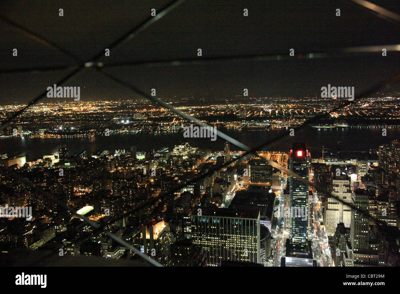 Aussicht auf Manhattan vom Empire State Building - Stock Image