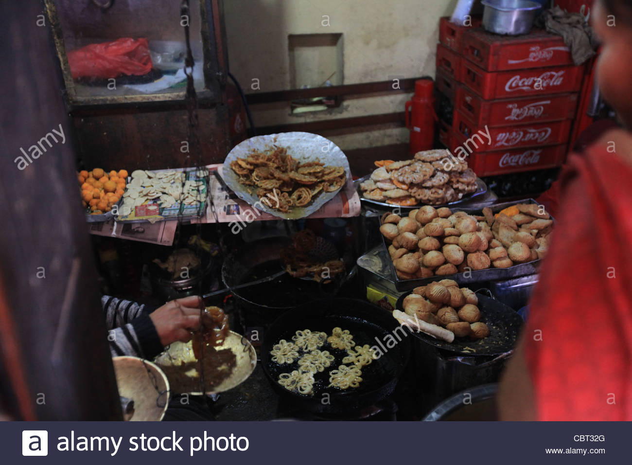 Traditional Nepali Sweets - Stock Image
