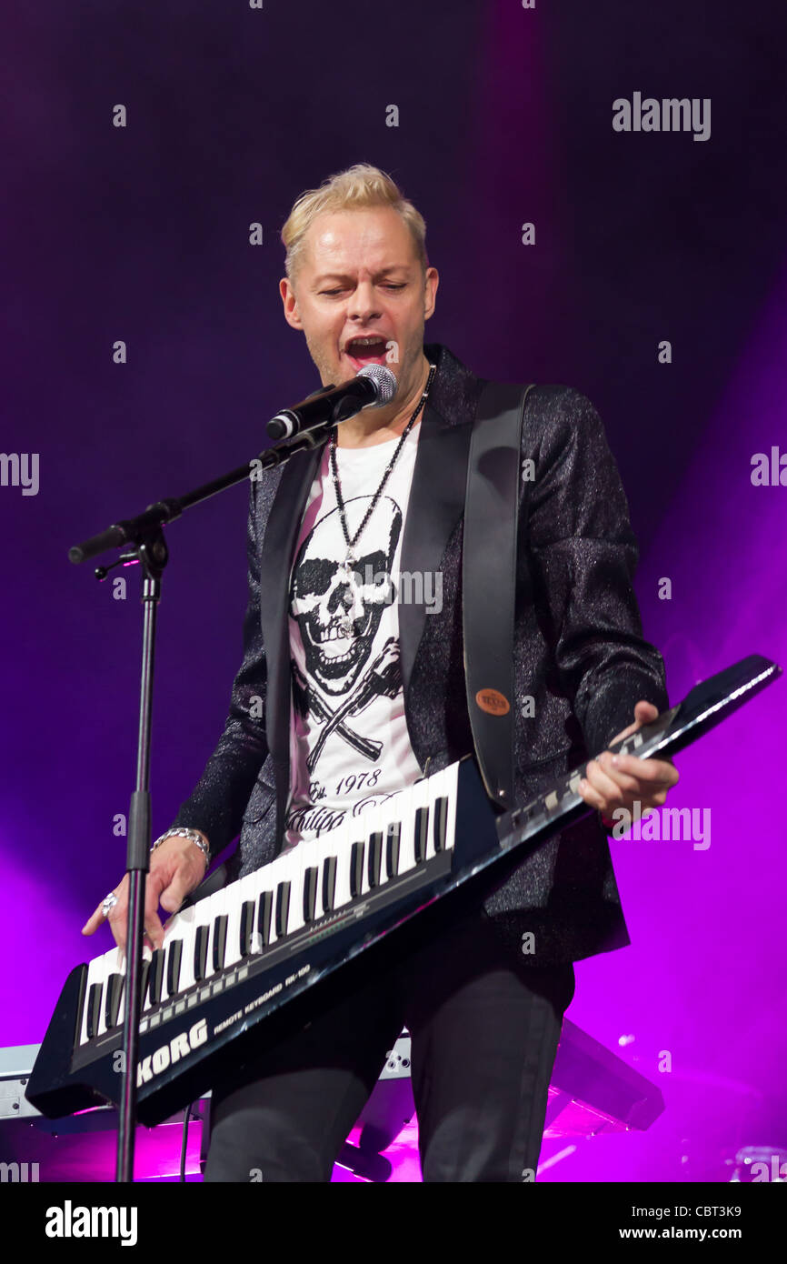 Songwriter and producer Uwe Fahrenkrog-Petersen performs at Sixday-Nights Zuerich 2011 at Zurich December - Stock Image