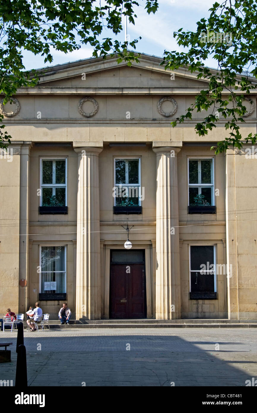 The Magistrates' Court , ( formerly the Old Town Hall), Bexley Square, Chapel  Street, Salford, Greater Manchester. Stock Photo