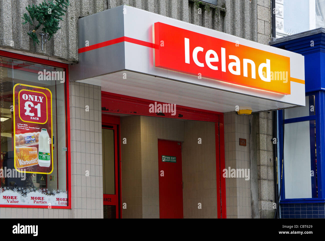 An Iceland frozen food store in Redruth, Cornwall, UK - Stock Image