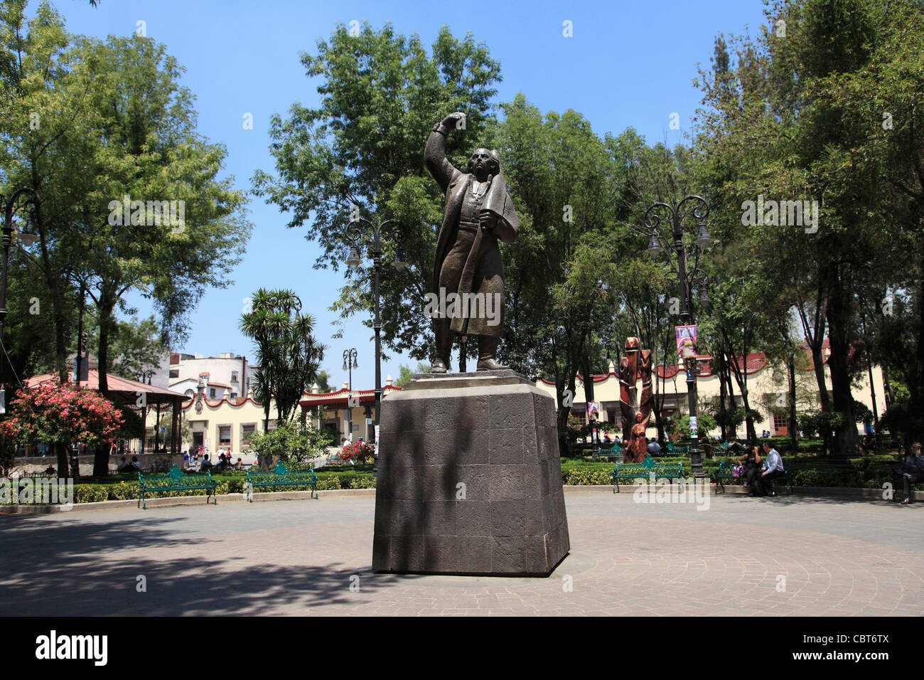 Statue Of Miguel Hidalgo Plaza Hidalgo Coyoacan Mexico City