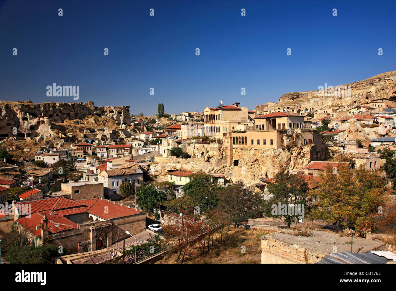 Photo from Urgup town, where you can see some old Greek housesNevsehir, Cappadocia, Turkey. - Stock Image