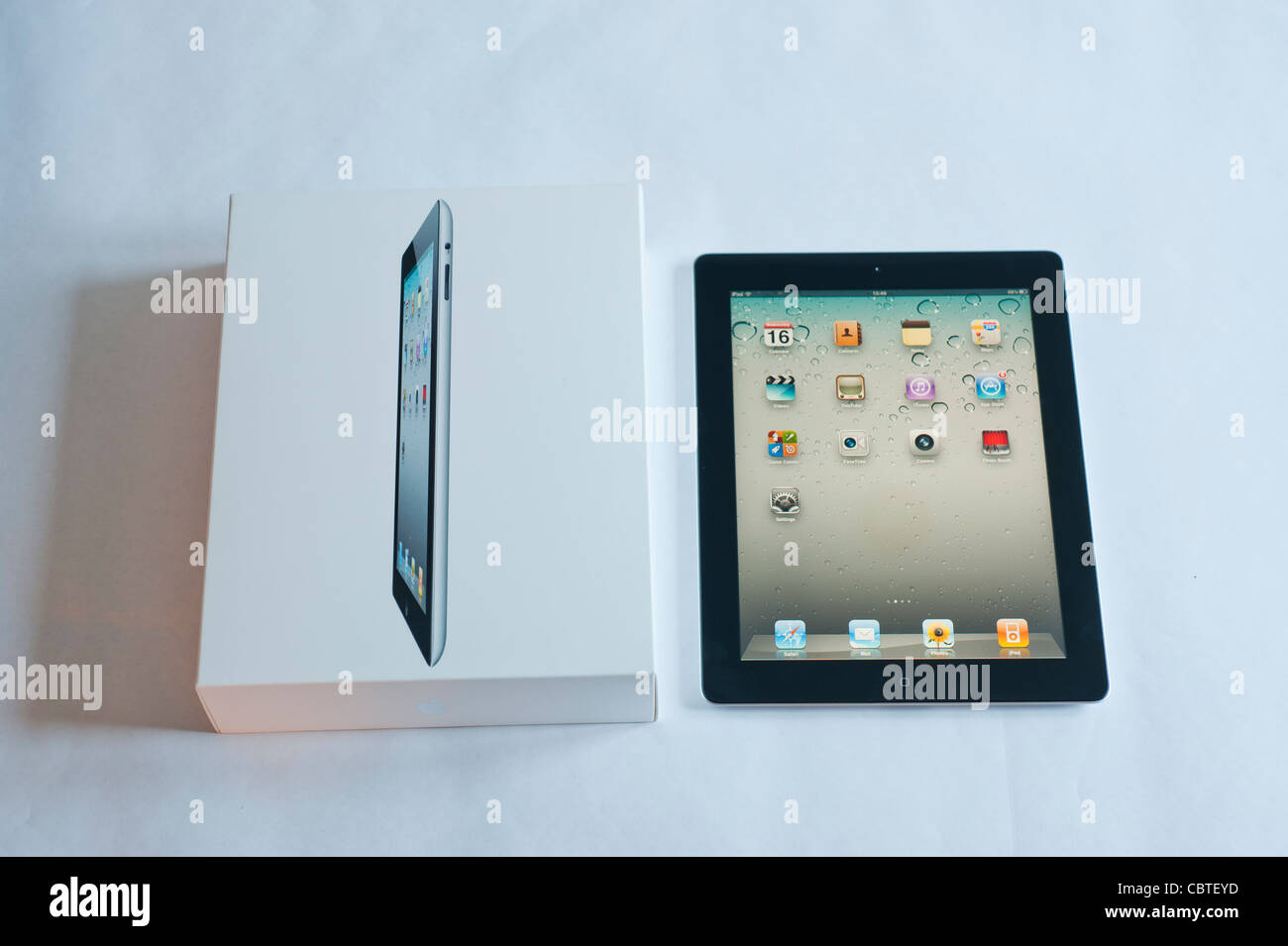 The iPad 2 is the second generation of the iPad, the digital tablet is developed and marketed by Apple. Released Stock Photo