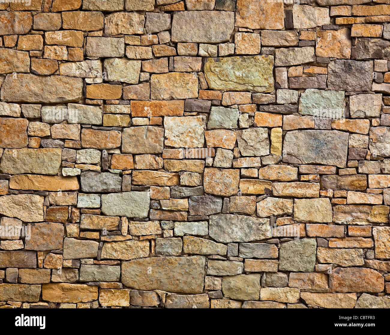 stone wall texture - Stock Image