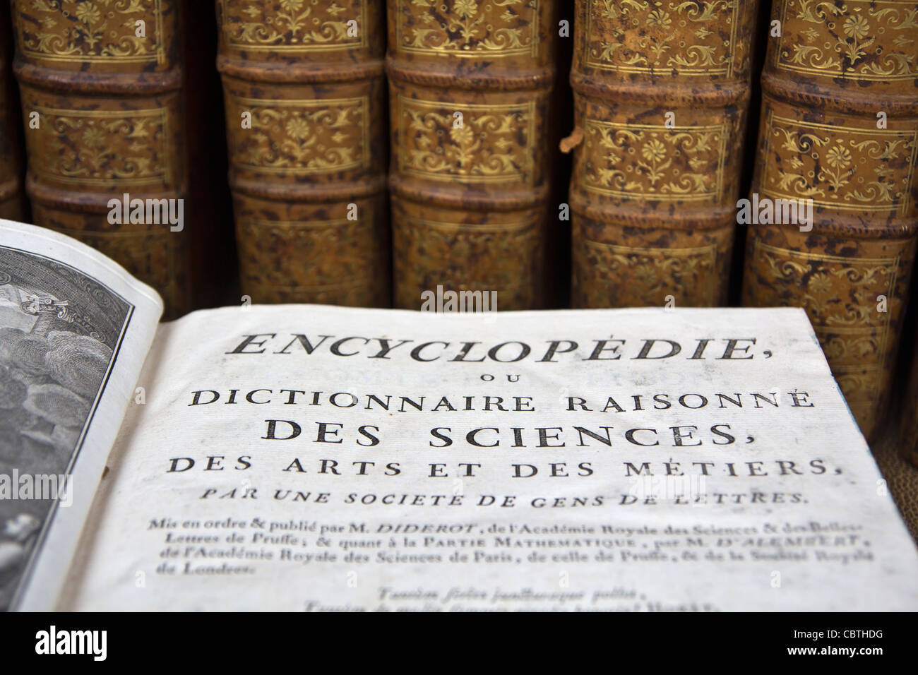 French encyclopaedia - Stock Image