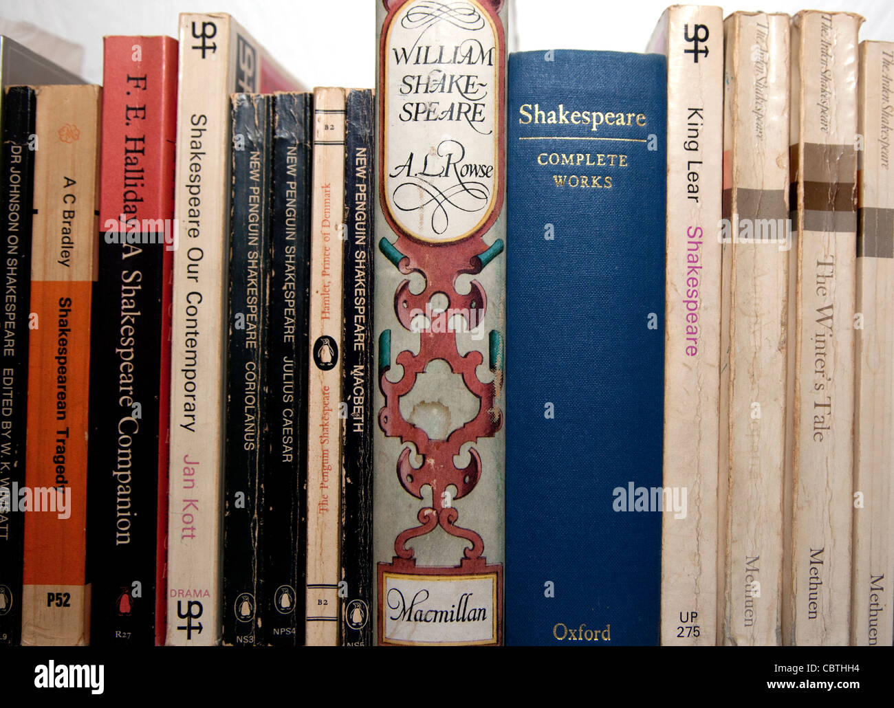 William Shakespeare - plays and critical works, Londono - Stock Image