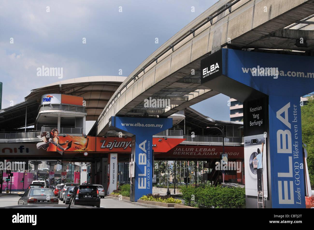 KL monorail station Kuala Lumpur Malaysia - Stock Image